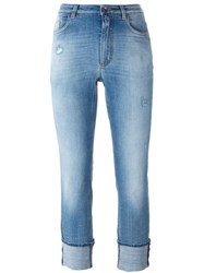Dolce And Gabbana Turn Up Hem Jeans Blue