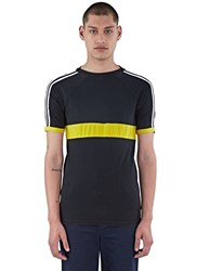 Wales Bonner George Stripe Crew Neck T Shirt Black