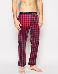 Tommy Hilfiger Check Woven Lounge Pants Red