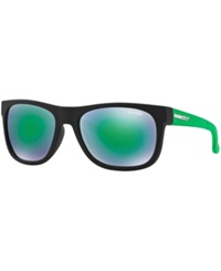 Arnette Sunglasses Arnette An4206 57 Black Matte Green Mirror