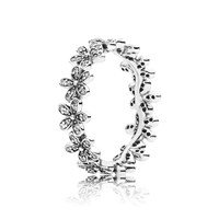 Pandora Design Daisy Silver Ring With Cubic Zirconia