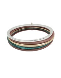 Robert Lee Morris Color Gestures Two Tone Bangle Bracelet Set Of 5