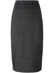 Dkny Mid Length Pencil Skirt Black