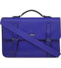 Ted Baker Fredim Grained Leather Satchel Blue
