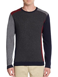 Saks Fifth Avenue Colorblock Cashmere Sweater Red Grey