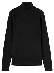 Jigsaw Merino Wool Roll Neck Jumper Black