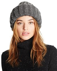 Federica Moretti Ribbed Knit Hat Gray