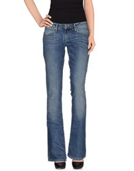 Exte Denim Denim Trousers Women Blue