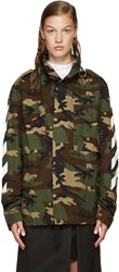 Off White Green Camouflage M65 Jacket