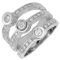 Torrini Liu Collection 18K White Gold Diamond Ring