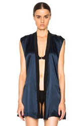 Kiki De Montparnasse Sleeveless Robe In Blue