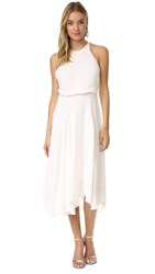 Halston High Neck Dress Chalk
