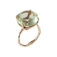 By Emily Green Amethyst Ring Gold