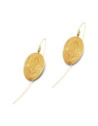 Stefano Patriarchi Golden Silver Etched Oval Drop Earrings