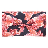 Coast Printed Bow Clutch Bag Black