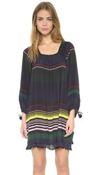 Apiece Apart Sayulita Square Neck Dress Night Lights Stripe