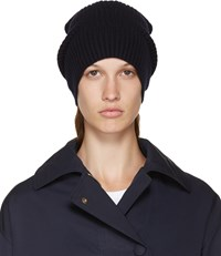 Stella Mccartney Navy Wool Beanie