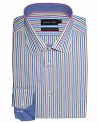 Double Two King Size Formal Shirt Multi Coloured