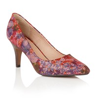 Lotus Amaranta Floral Print Loafers Multi Coloured