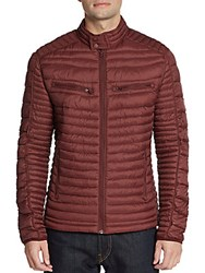 Saks Fifth Avenue Quilted Puffer Jacket Red