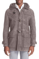 Men's Canali Toggle Genuine Shearling Coat