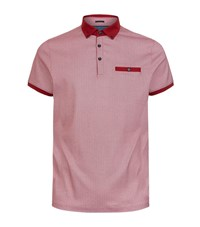Ted Baker Graphic Printed Polo Shirt Male Red