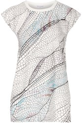 Vionnet Printed Cotton And Stretch Jersey Top White