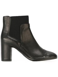 Roberto Del Carlo Chunky Heel Ankle Boots Black