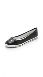 Marc By Marc Jacobs Constructed Ballerina Flats Black