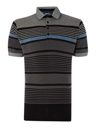 Duck And Cover Affusion Stripe Polo Shirt Black
