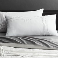 Cb2 Set Of Two Twisted White King Shams