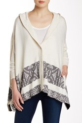 Twelfth St. By Cynthia Vincent Hooded Blanket Sweater White