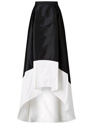 Adrianna Papell Hi Lo Colourblock Taffeta Skirt Black Ivory