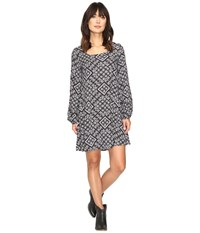 Rock And Roll Cowgirl Long Sleeve Dress D4 9600 Black Women's Dress