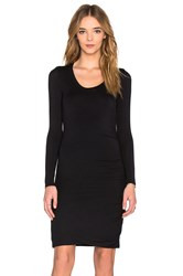Velvet By Graham And Spencer Freeda Modal Knit Long Sleeve Scoop Neck Dress Black