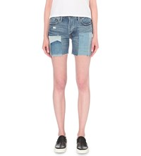 Levi's 505C Patchwork Slim Fit Mid Rise Denim Shorts Rockaway Indigo