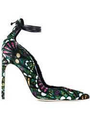 Brian Atwood Ankle Wrap Pumps Green