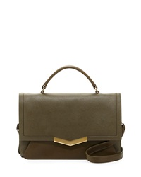 Time's Arrow Helene Small Calfskin Top Handle Bag Militaire