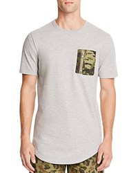 Prps Goods And Co. Camouflage Pocket Tee Heather Grey