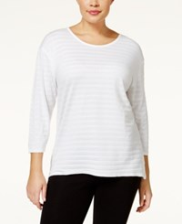Styleandco. Style And Co. Plus Size Striped High Low Top Only At Macy's Bright White