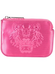 Kenzo 'Tiger' Coin Purse Pink And Purple