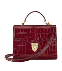 Aspinal Of London Croc Print Mayfair Bag Unisex