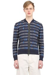 Vasily Razdorskiy Cotton Blend Knit Bomber Jacket