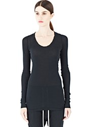 Rick Owens Long Sleeved Top Black