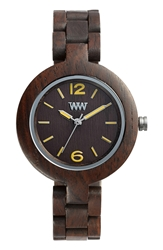 Wewood 'Mimosa' Wood Bracelet Watch 29Mm Chocolate