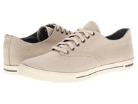 Seavees 08 63 Hermosa Plimsoll Core Natural Vintage Wash Linen Men's Lace Up Casual Shoes Khaki