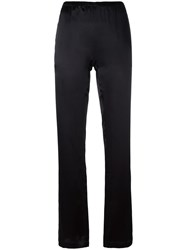 Carine Gilson Plain Pants Black