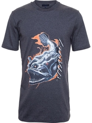 Lanvin Monstrous Fish T Shirt Grey