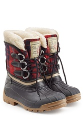 Dsquared2 Leather And Rubber Boots Multicolor