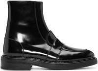 Yang Li Black Penny Loafer Ankle Boots